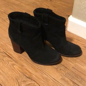 Splendid black suede leather ankle boots booties 6